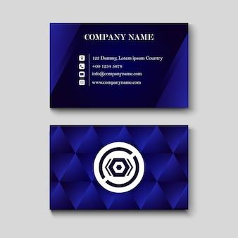 Blauwe naamkaart