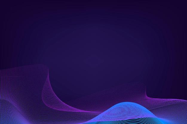 Blauwe neon synthewave achtergrond