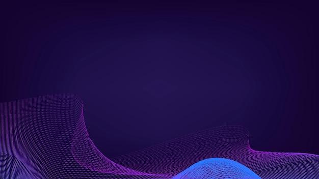 Blauwe neon synthewave patroon achtergrond vector
