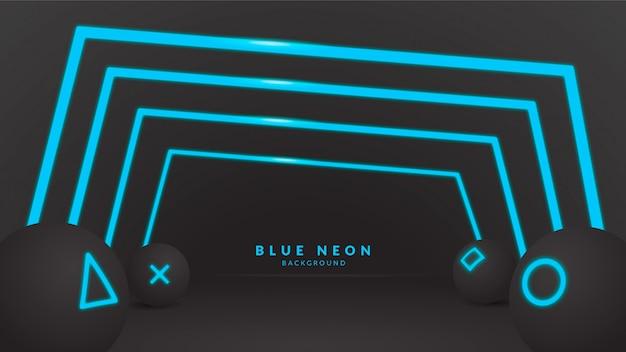 Blauwe neonachtergrond