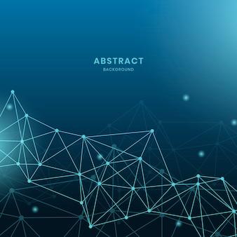 Blauwe neurale netwerkillustratie