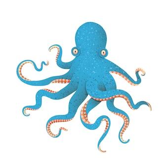 Blauwe octopus