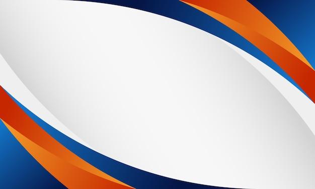 Blauwe, oranje en witte kromme vorm achtergrond. nieuwe sjabloon voor uw bedrijf.