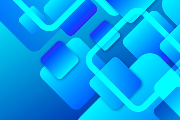 Blauwe overlappende vormenachtergrond