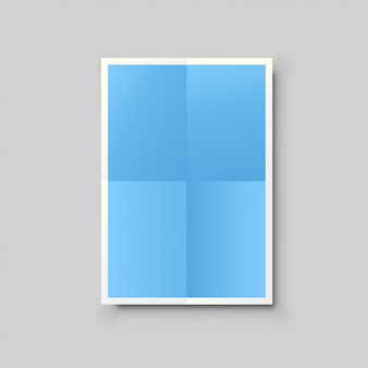 Blauwe papieren lijst