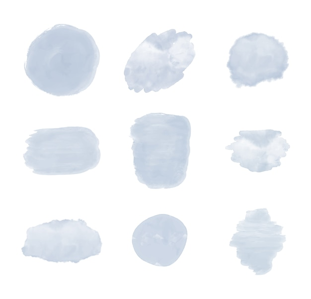 Blauwe penseelstreek aquarel textuur.