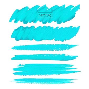 Blauwe penseelstreek