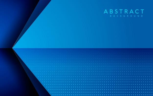 Blauwe pijl overlappen laag abstracte achtergrond