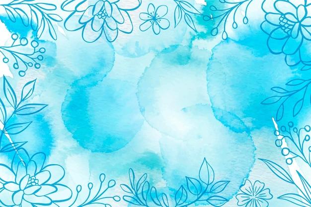 Blauwe poeder pastel achtergrond