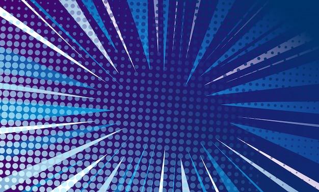 Blauwe pop-artachtergrond