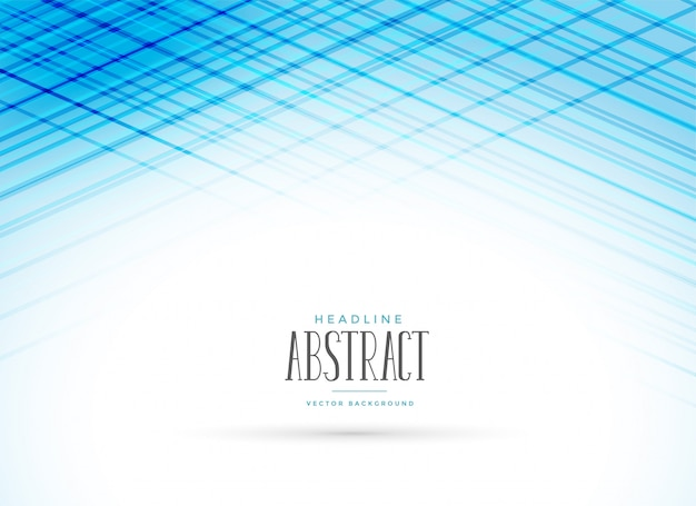Blauwe presentatieachtergrond met lijneffect