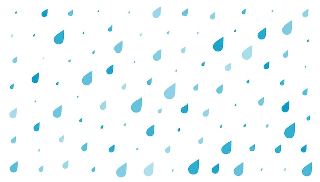 Blauwe regendruppels op witte achtergrond