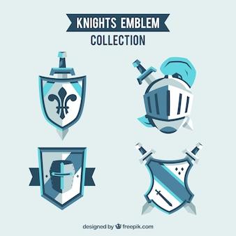 Blauwe ridderemblemen