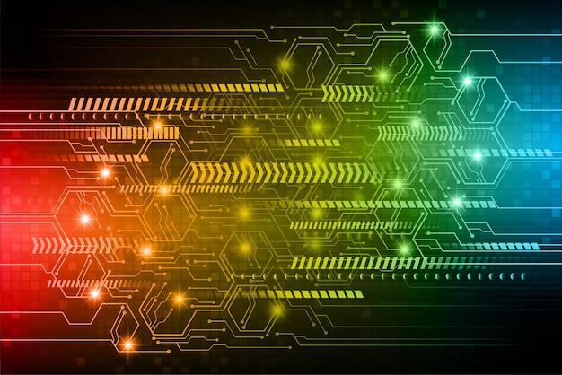 Blauwe rode cyberkring toekomstige technologieachtergrond