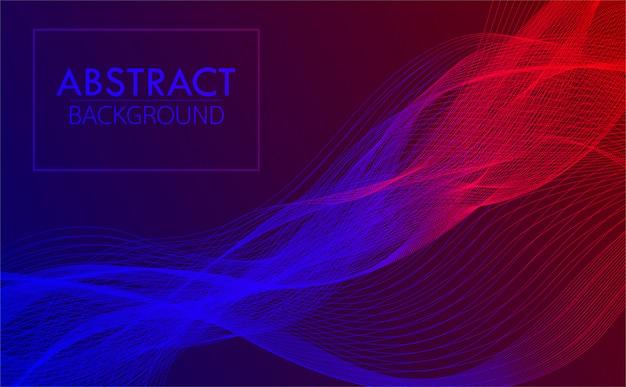 Blauwe rode gradiënt golf abstracte achtergrond