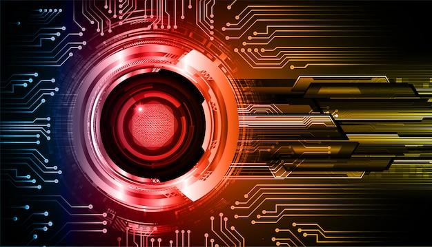 Blauwe rode technologie van de oog cyber kring toekomstige technologie