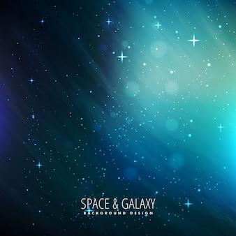 Blauwe ruimte achtergrond