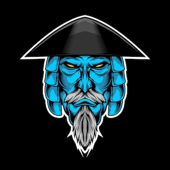 Blauwe samurai