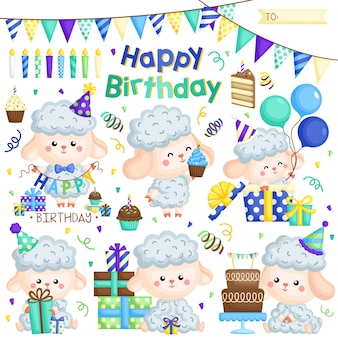 Blauwe schapen verjaardag