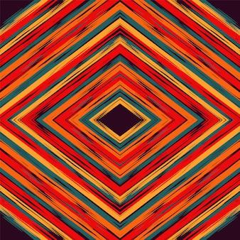 Blauwe shibori tribal rode batik turkse vector achtergrond.