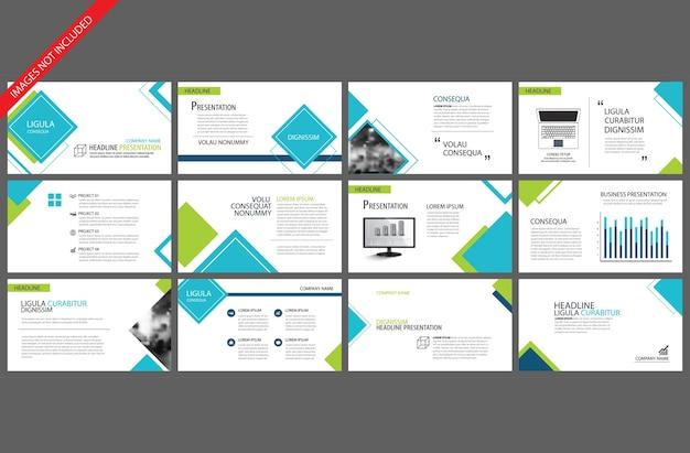 Blauwe sjabloon voor powerpoint presentatie presentatie