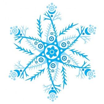 Blauwe sneeuwvlok ontwerp