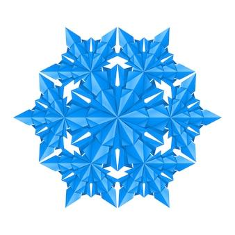 Blauwe sneeuwvlok