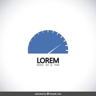 Blauwe snelheidsmeter logo