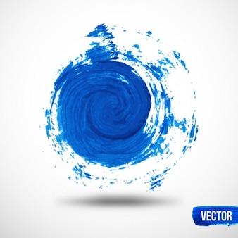 Blauwe spiraal aquarel achtergrond