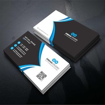 Blauwe stijlvolle zakelijke kaart