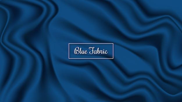 Blauwe stoffenachtergrond
