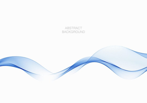 Blauwe stroom transparante golf rook abstracte achtergrond ontwerpelement vector