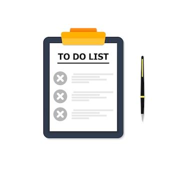 Blauwe tablet met lijst van gevallen op wit