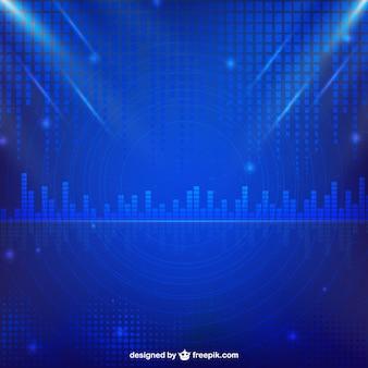 Blauwe techno achtergrond