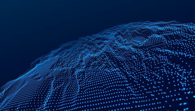 Blauwe technologie digitale landschap futuristische achtergrond