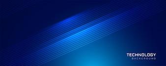 Blauwe technologie gloeiende lijnen achtergrond