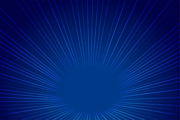 Blauwe technologie stijl perspectief zoom lijnen achtergrond