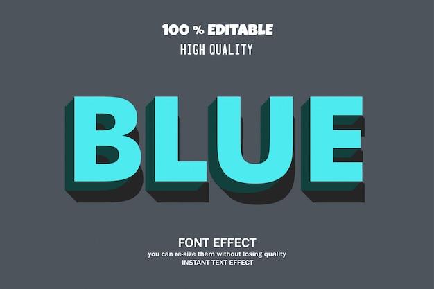 Blauwe tekst, bewerkbaar lettertype-effect