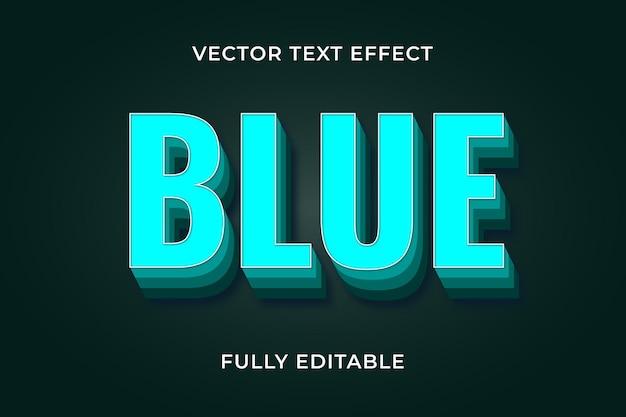 Blauwe tekst effect eps