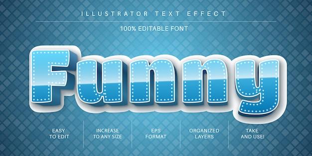 Blauwe tekststijl, lettertype-effect