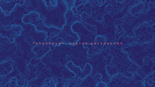 Blauwe topografische contourkaart