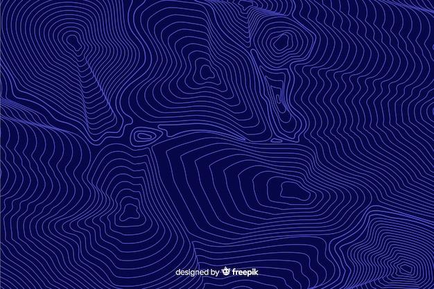 Blauwe topografische lijnenachtergrond