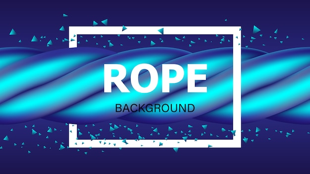 Blauwe touw achtergrond.