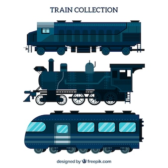 Blauwe treinverzameling