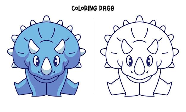 Blauwe triceratops splitsen