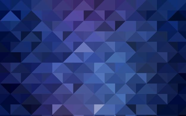 Blauwe vector driehoek mozaïek sjabloon