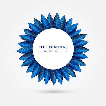 Blauwe veerring achtergrond