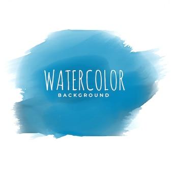 Blauwe verf aquarel penseelstreek achtergrond