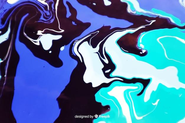 Blauwe verf marmeren textuur achtergrond