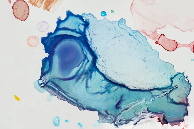 Blauwe verf spatten